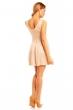 Елегантна къса рокля Mayaadi в цвят мляко с какао