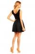 Елегантна къса рокля Mayaadi в черен цвят