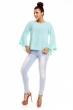 Дамска блуза Made in Italy цвят аква-мента