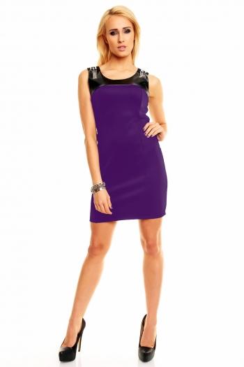 Нежна рокля в наситен лилав цвят Miss Cristy