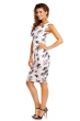 Изискана бяла рокля с флорален принт Beauty F
