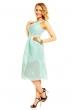 Лятна рокля в нежно аква синьо Graffit