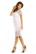 Изискана рокля William в бяло
