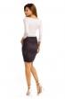 Елегантна дамска пола в черно и сиво Italian Style