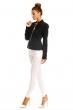 Черно дамско сако Italian Style с декоративен цип