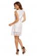 Нежна рокля Luzabelle в бяло с декорация от дантела