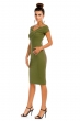Изключително стилна рокля May Collection в милитари зелено