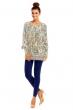 Топъл пуловер Pense A Toi в свежи синьо-зелени цветове