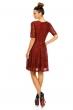 Елегантна дантелена рокля Fabio в цвят бордо