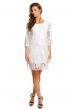 Къса рокля  Luzabelle в бяло