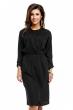 Стилна ежедневна рокля Osley в черно