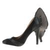 Черни елегантни обувки кожа и набук