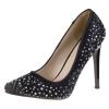 Елегантни черни обувки с нежни кристали