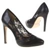 Елегантни обувки черна дантела