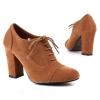 Ежедневни цвят камел обувки с връзки