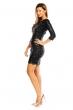 Изящна рокля Mayaadi с декорация от пайети в черно