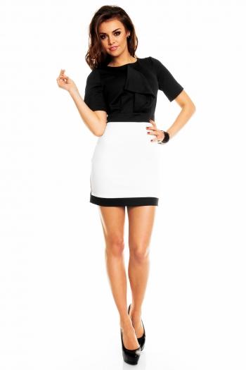 Ефектна двуцветна рокля в черно и бяло ДЕФЕКТ