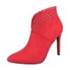 Елегантни боти с тънък ток в червено
