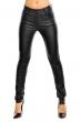 Черен дамски кожен панталон LUIZACCO