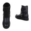 Дамски ежедневни обувки в черно с цип