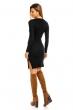 Есенно-зимна рокля Voyelles в черно