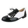 Ниски ежедневни обувки в цвят черно и бяло