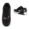 Спортни обувки с флорален акцент в черно