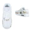Спортни обувки с флорален акцент в бяло
