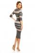 Стилна плетена рокля Soky & Soka със сива основа