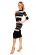 Стилна плетена рокля Soky & Soka с черна основа