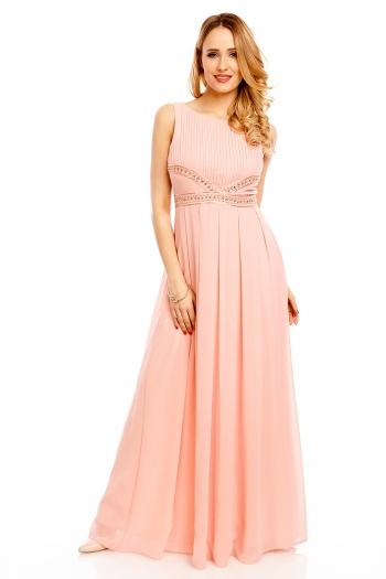 Официална рокля Soky & Soka с декорация в нежно розово