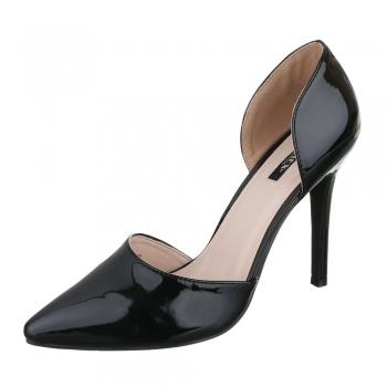 Елегантни лачени обувки Jumex в черно