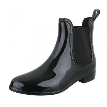 Стилни гумени ботуши в черно