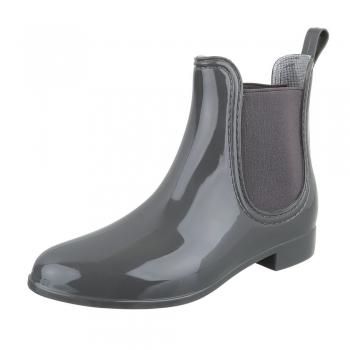 Стилни гумени ботуши в сиво