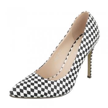 Дамски обувки с шахматен ромбоиден десен Small Swan