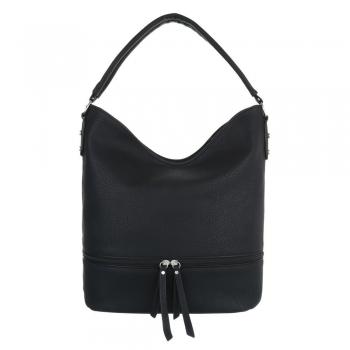 Ежедневна чанта с декоративен цип в черно