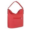 Ежедневна чанта с декоративен цип в червено