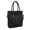 Стилна чанта с декорация в черно