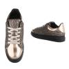 Ежедневни обувки с равна платформа с бронзови отенъци