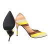 Многоцветни обувки на висок ток - пастелни цветове