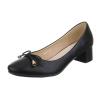 Ежедневни обувки с нисък ток в черно