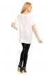 Асиметрична блуза Art Styling в бяло