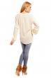 Свободна памучна блуза Samar Moda в цвят беже