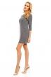 Ежедневна рокля Art Stylist с декоративни ципове в сив цвят