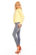 Милитъри блейзер в свеж жълт цвят