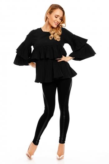 Топ блуза в черно Langarm Luzabelle