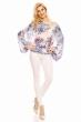 Блуза с широки ръкави и флорален принт Moda Fashion в бяло