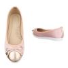 Дамски балеринки Coura в блестящо розово