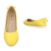 Изчистени балеринки от еко кожа Super Mode в жълто