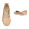 Изчистени балеринки от еко кожа Super Mode в бледо розово